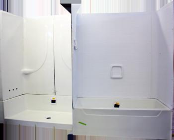 two piece shower tub unit. 2 Piece Tubs W  Fiberglass Surround 27 W X 54 L 75 H White Or Bone We Offer Sliding Glass Doors For This Unit Allen S Mobile Home RV Supplies Gastonia NC